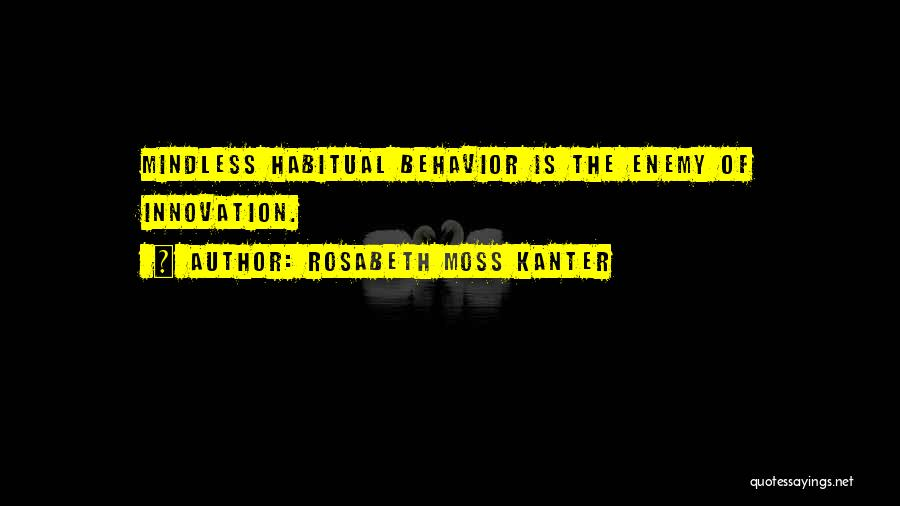 Habitual Quotes By Rosabeth Moss Kanter