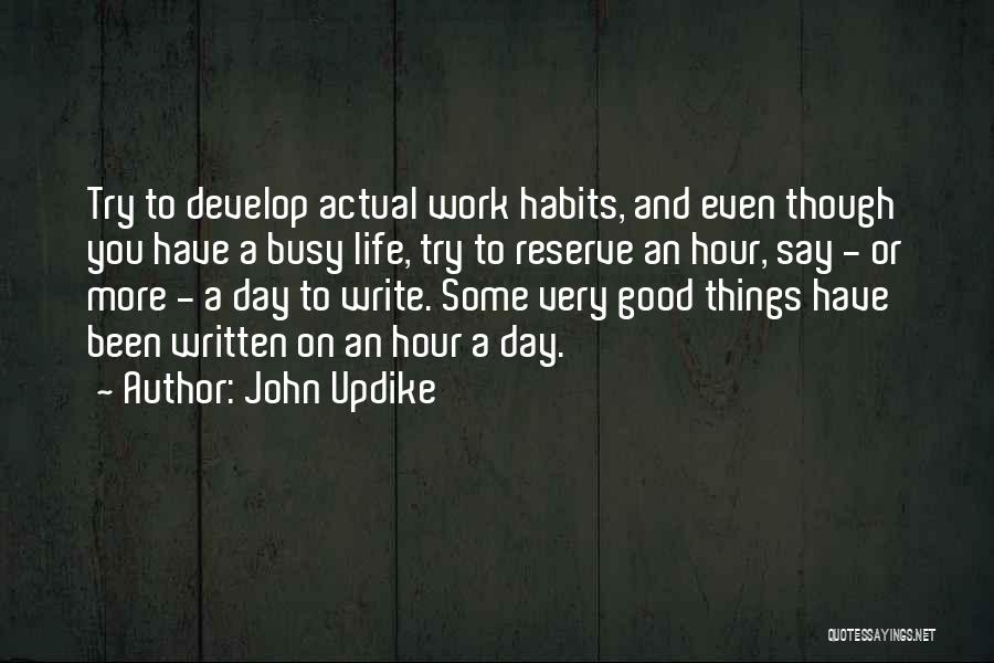 Had A Good Day At Work Quotes By John Updike