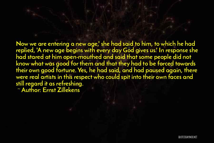 Had A Good Day With Him Quotes By Ernst Zillekens