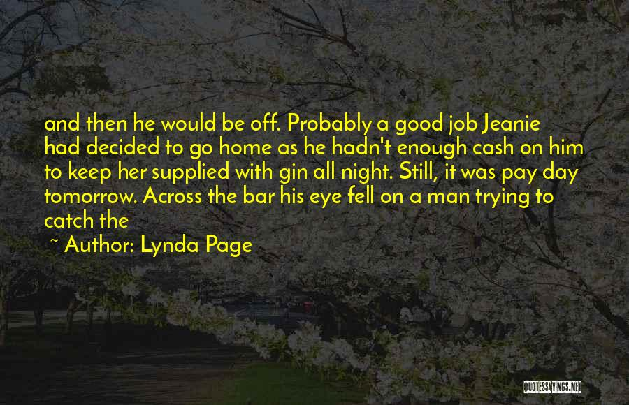 Had A Good Day With Him Quotes By Lynda Page