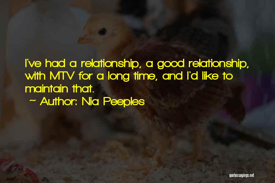 Had A Good Time Quotes By Nia Peeples