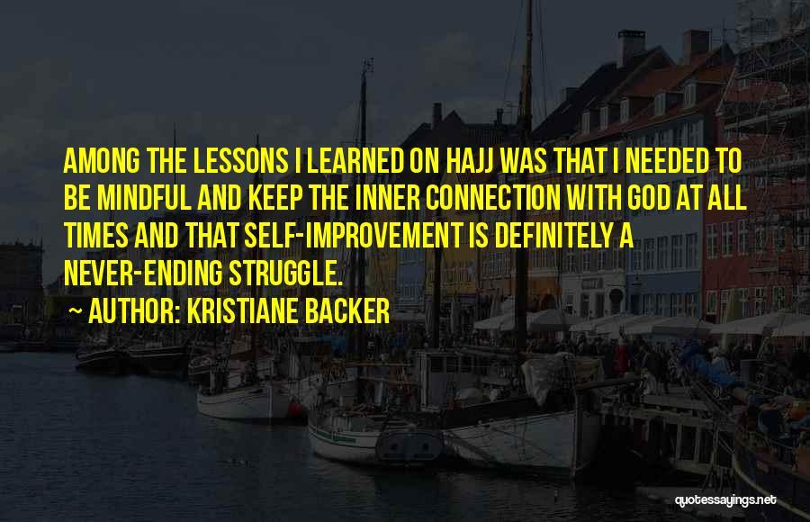 Hajj Quotes By Kristiane Backer