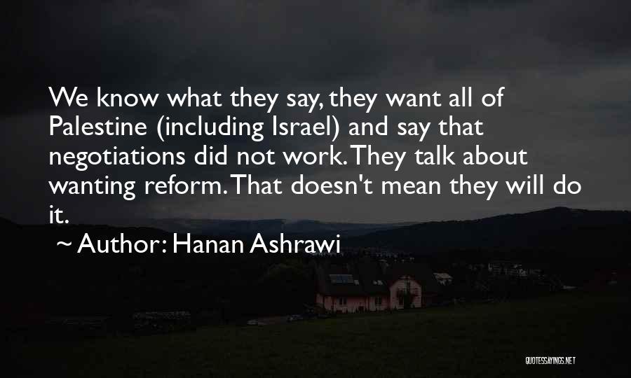 Hanan Ashrawi Quotes 181028
