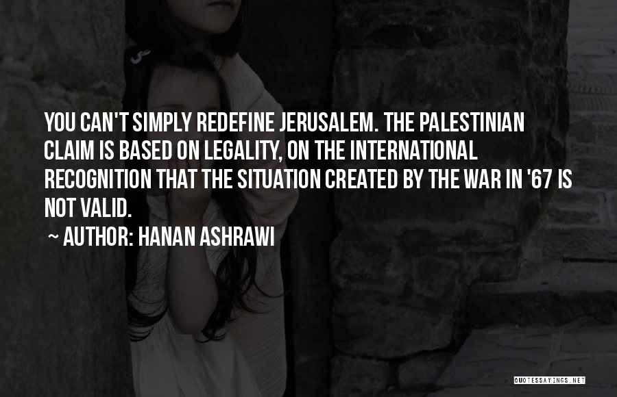 Hanan Ashrawi Quotes 2217582
