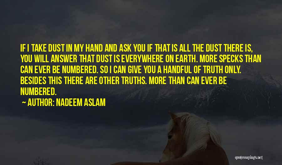 Handful Of Dust Quotes By Nadeem Aslam