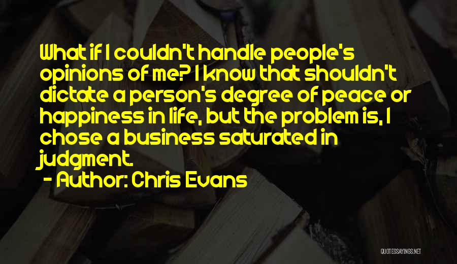 Handle Business Quotes By Chris Evans