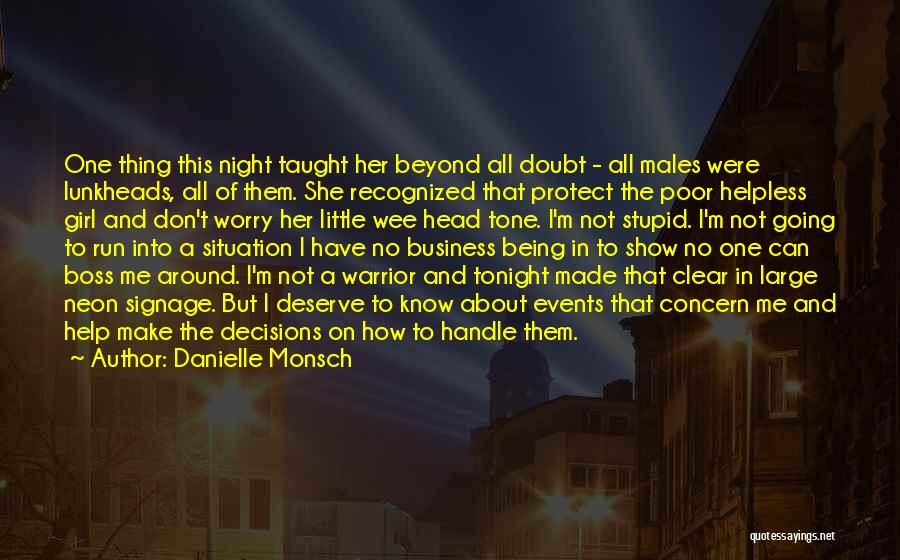 Handle Business Quotes By Danielle Monsch
