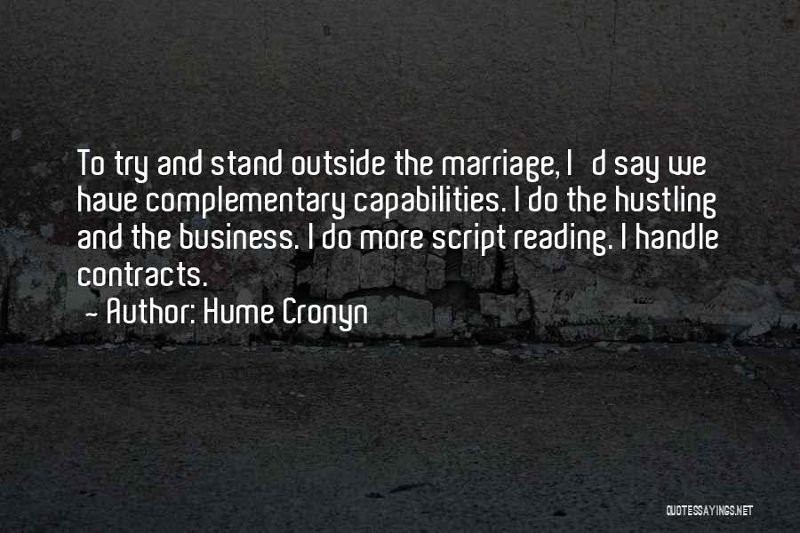 Handle Business Quotes By Hume Cronyn