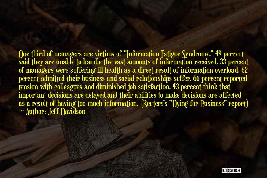 Handle Business Quotes By Jeff Davidson