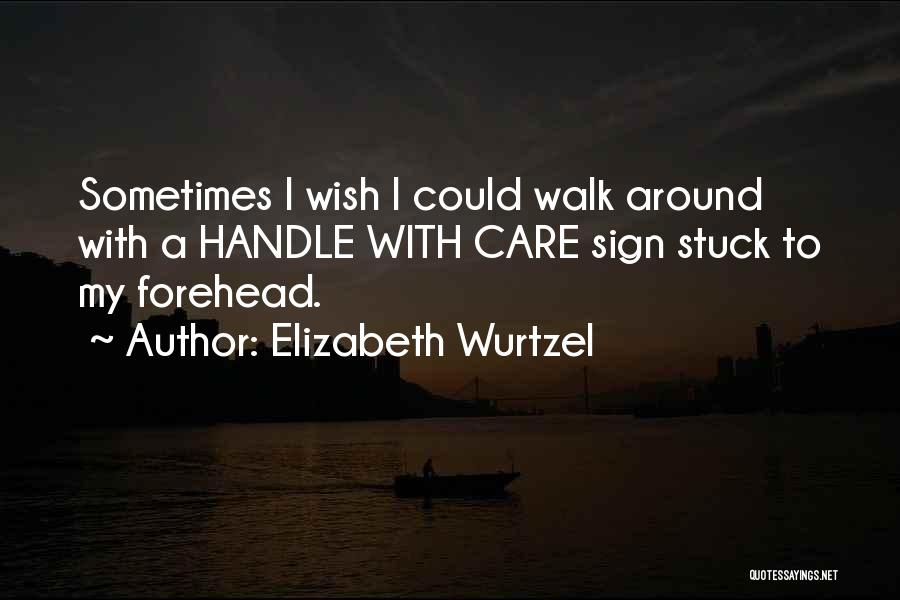 Handle With Care Quotes By Elizabeth Wurtzel