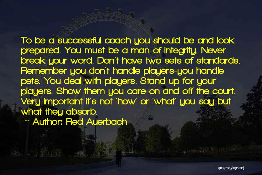 Handle With Care Quotes By Red Auerbach