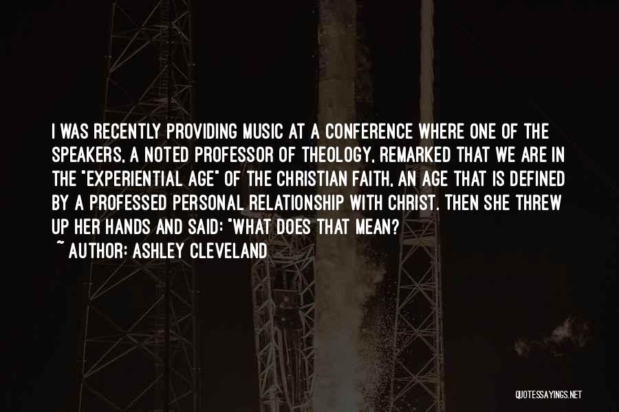 Hands And Music Quotes By Ashley Cleveland