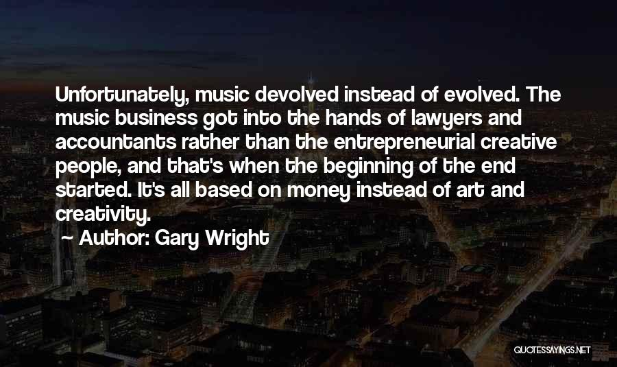 Hands And Music Quotes By Gary Wright