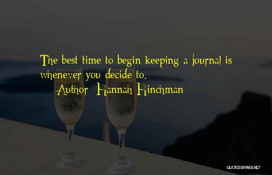 Hannah Hinchman Quotes 1847848
