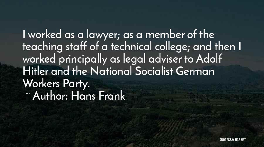 Hans Frank Quotes 692030