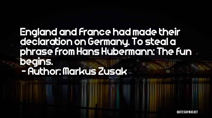 Hans Hubermann Quotes By Markus Zusak
