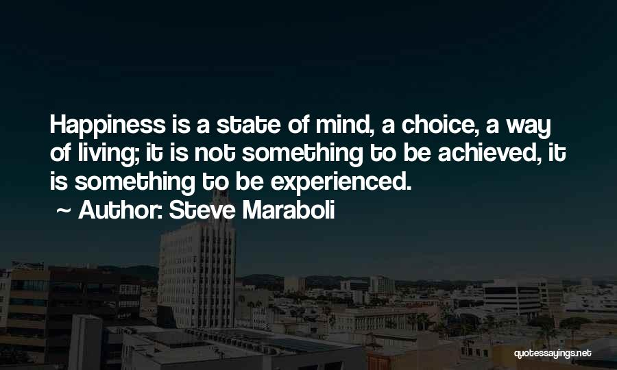 Happiness Achieved Quotes By Steve Maraboli