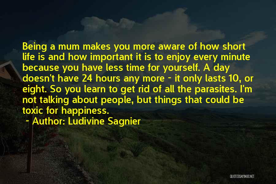 Happiness And Being Yourself Quotes By Ludivine Sagnier