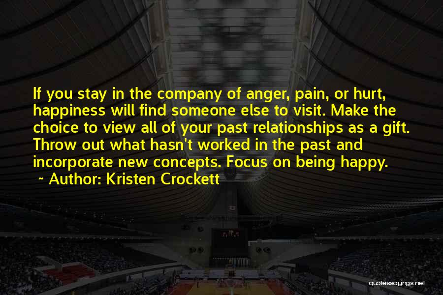 Happiness Being A Choice Quotes By Kristen Crockett