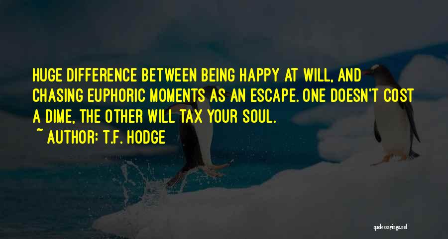 Happiness Being A Choice Quotes By T.F. Hodge