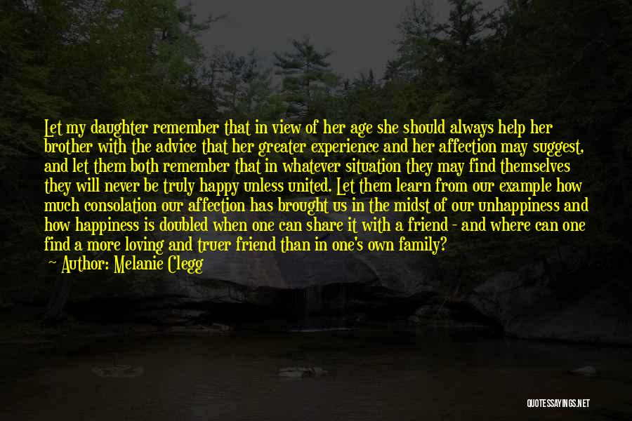 Happiness In The Family Quotes By Melanie Clegg