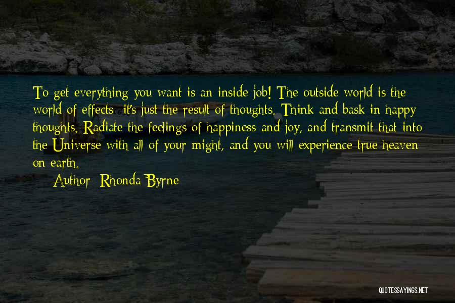 Happiness Inside You Quotes By Rhonda Byrne