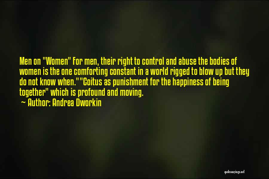 Happiness Is Not Constant Quotes By Andrea Dworkin