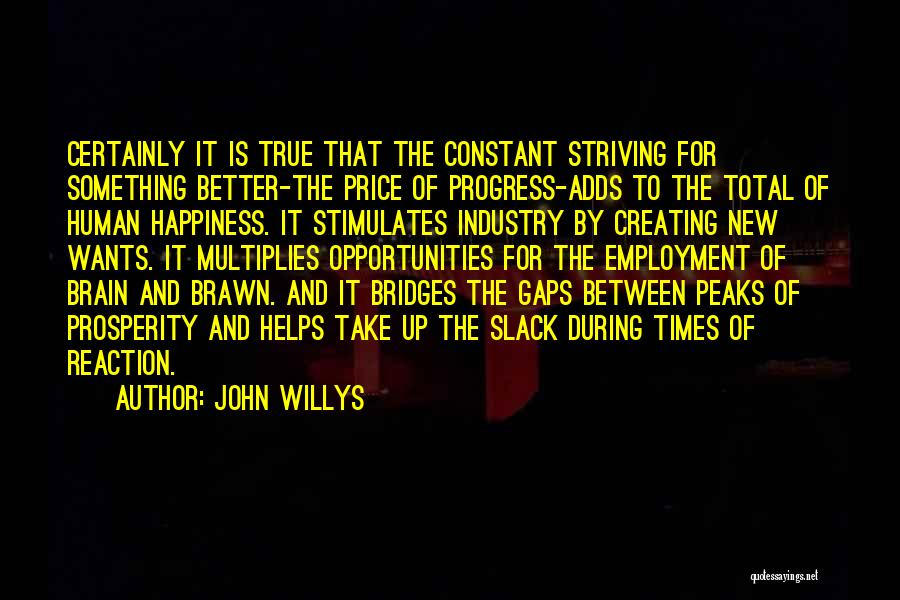 Happiness Is Not Constant Quotes By John Willys