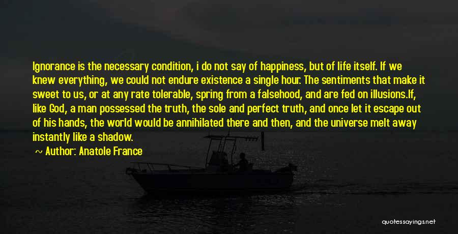 Happiness Of God Quotes By Anatole France