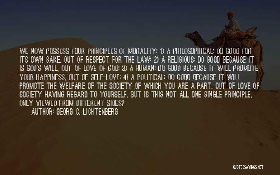 Happiness Of God Quotes By Georg C. Lichtenberg