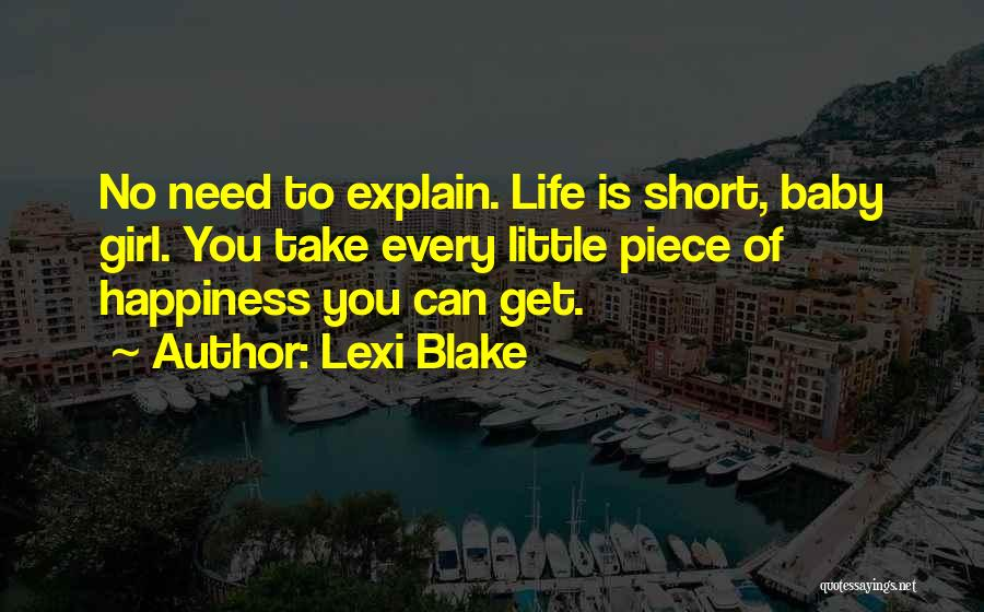 Happiness With Baby Quotes By Lexi Blake