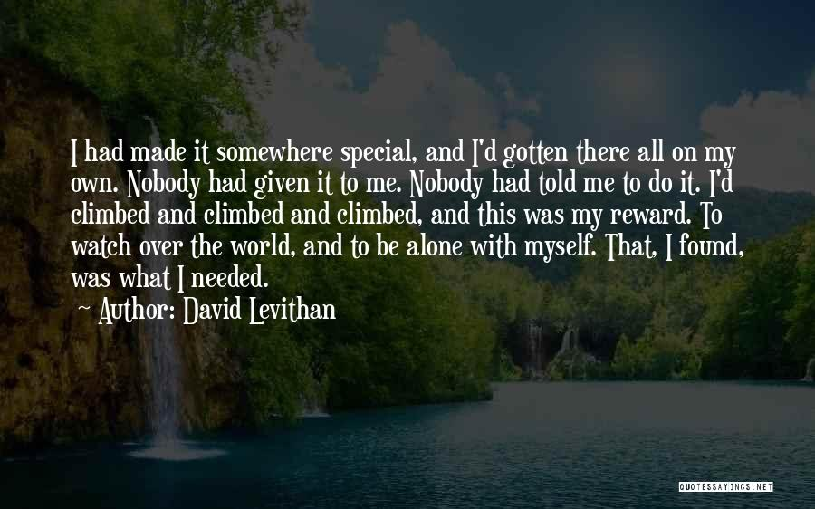 Happy All Alone Quotes By David Levithan