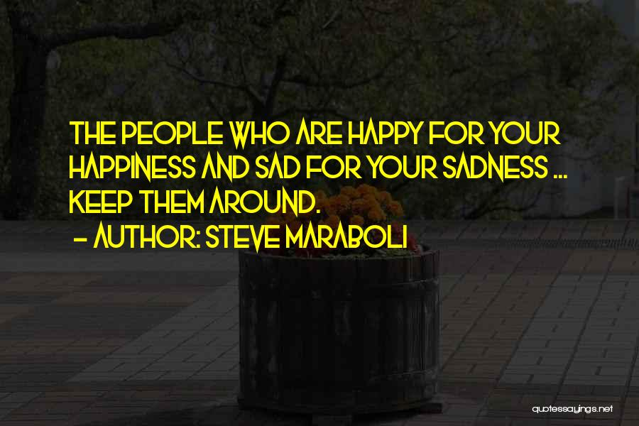 Happy Are Sadness Quotes By Steve Maraboli