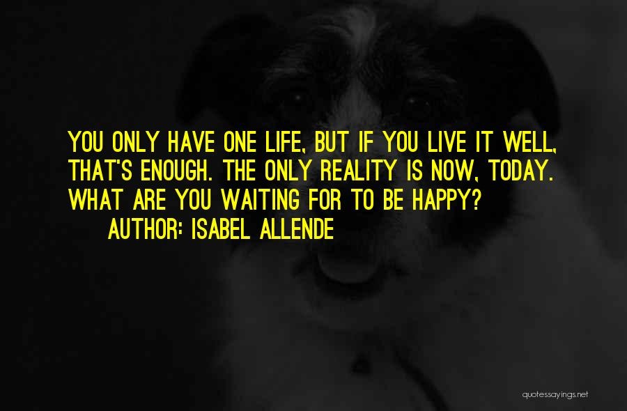 Happy Life Now Quotes By Isabel Allende