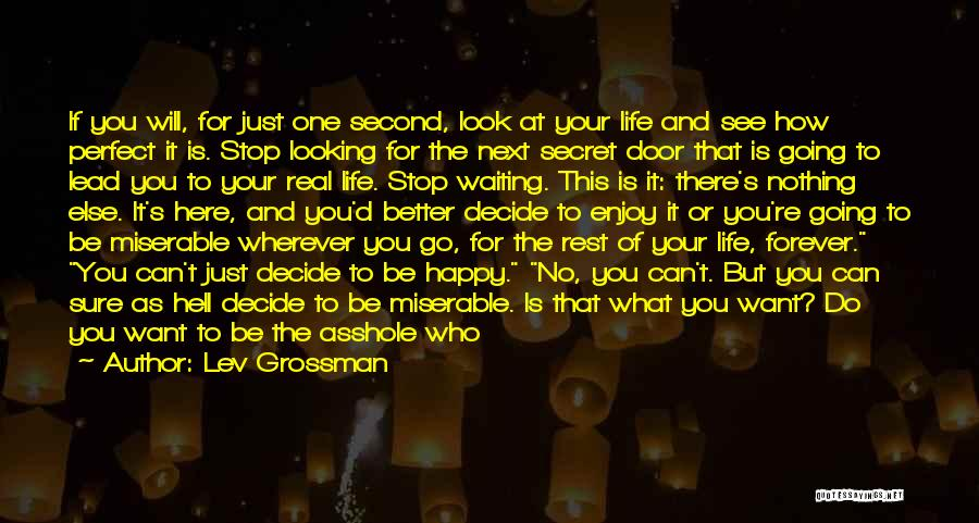 Happy Life Now Quotes By Lev Grossman