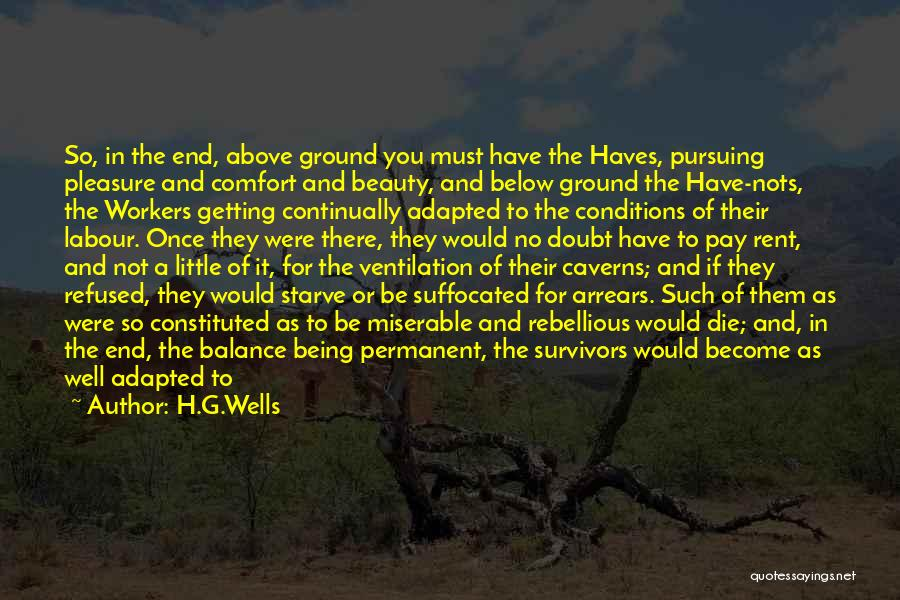 Happy Workers Quotes By H.G.Wells
