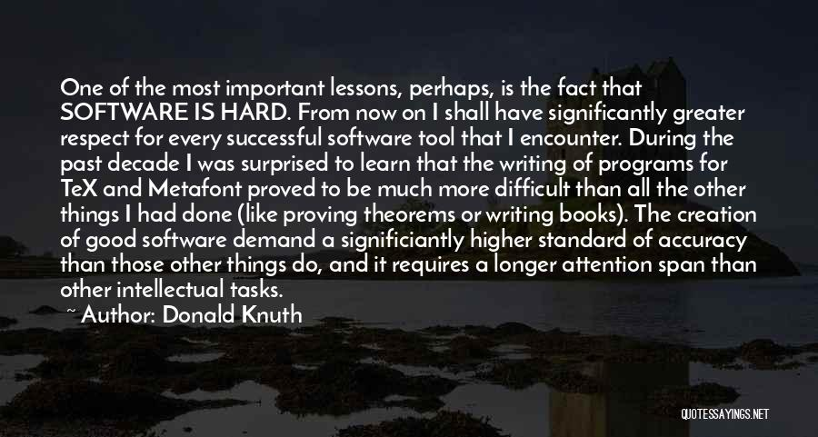 Hard Things Quotes By Donald Knuth