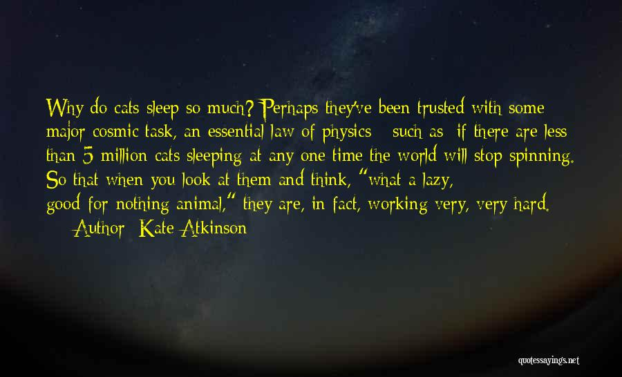 Hard Time Sleeping Quotes By Kate Atkinson