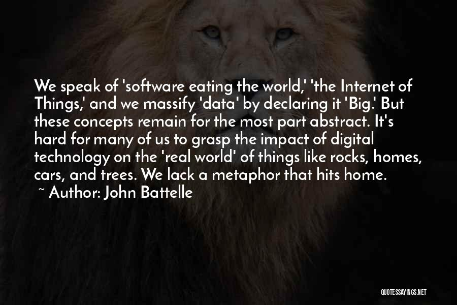 Hard To Grasp Quotes By John Battelle