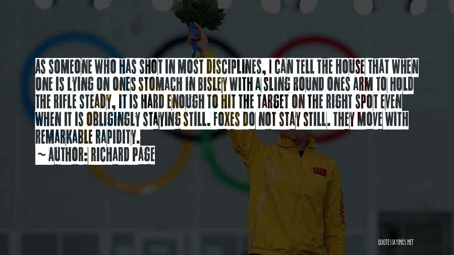 Hard To Move On Quotes By Richard Page