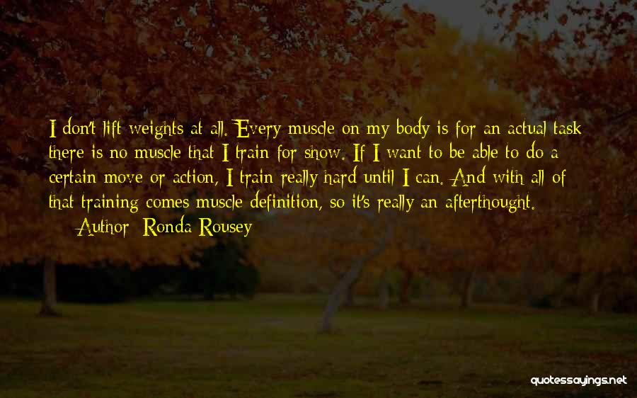 Hard To Move On Quotes By Ronda Rousey