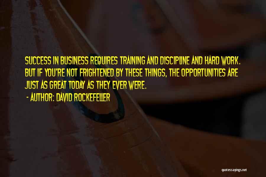 Hard Training Quotes By David Rockefeller