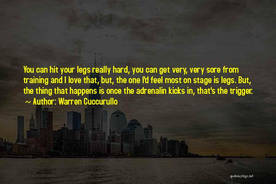 Hard Training Quotes By Warren Cuccurullo