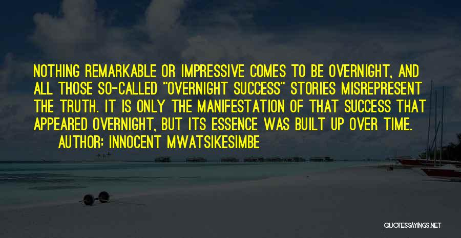 Hard Work And Motivational Quotes By Innocent Mwatsikesimbe