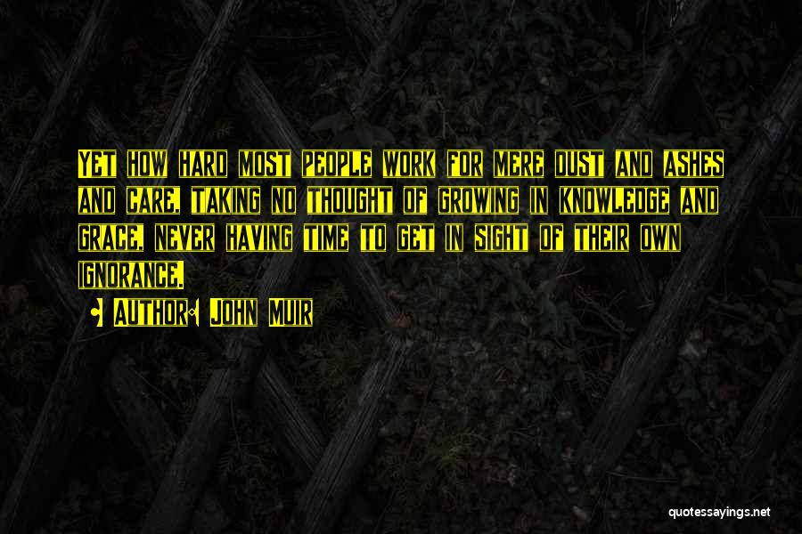Hard Work And Motivational Quotes By John Muir