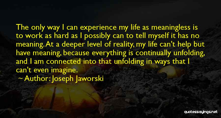 Hard Work And Motivational Quotes By Joseph Jaworski
