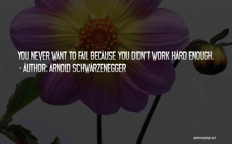 Hard Work Never Fail Quotes By Arnold Schwarzenegger