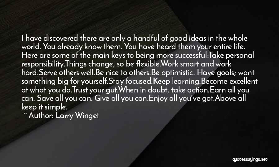 Hard Work Smart Work Quotes By Larry Winget