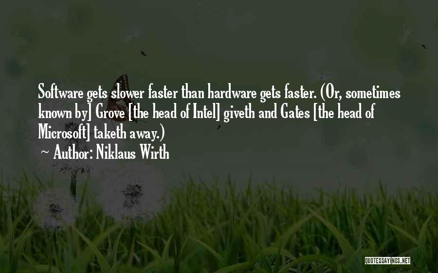 Hardware And Software Quotes By Niklaus Wirth