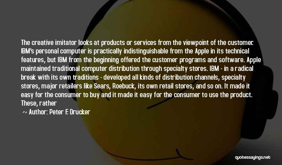 Hardware And Software Quotes By Peter F. Drucker